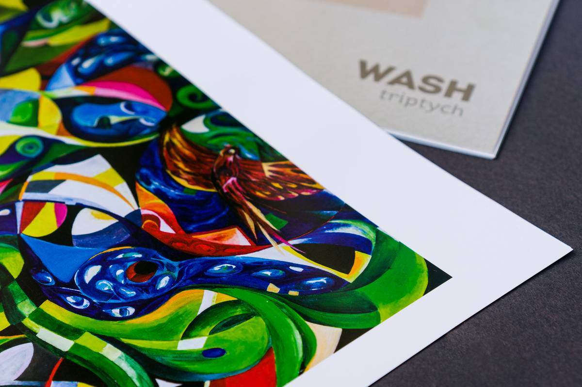 WASH Triptych booklet painting photograph